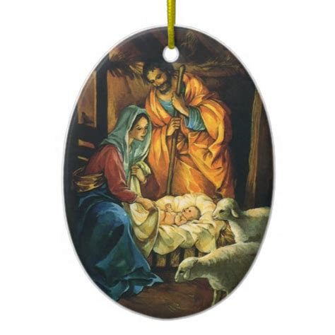 baby jesus ceramic tree ornament vintage nativity baby jesus in manger ceramic ornament zazzle