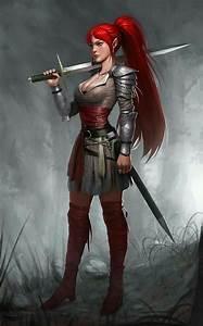 Female Elf Fighter - Pathfinder PFRPG DND D&D d20 fantasy ...