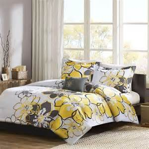 Yellow And Grey Curtains Walmart by Mizone Allison Yellow Twin Comforter Set