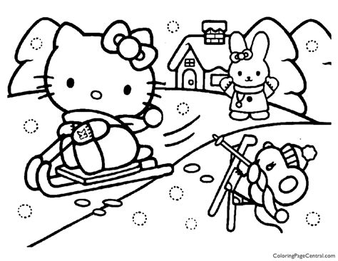 Hello Kitty Coloring Page 15 Coloring Page Central