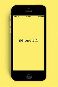New iPhone 5C PSD Mockup - GraphicsFuel
