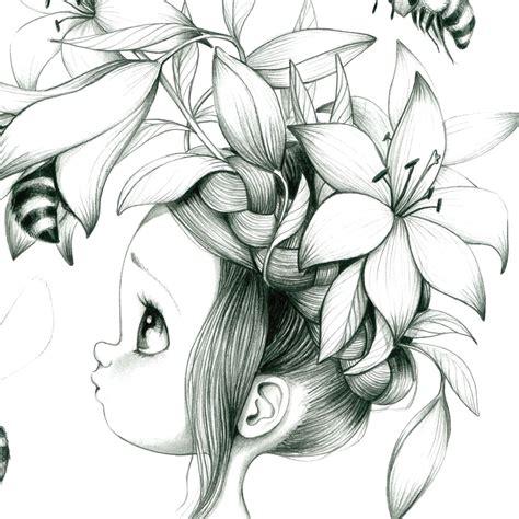 dessin de fille dessin pour chambre fille