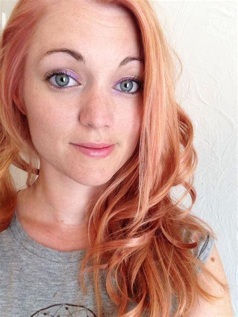 ginger  rose gold hair   schwarzkopf lightener