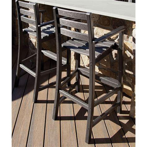 trex outdoor furniture monterey bay bar height arm chair