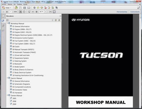 Hyundai Tucson Service Manual Wiring Diagram