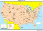 Us Map With Capitals And Major Cities - www ...