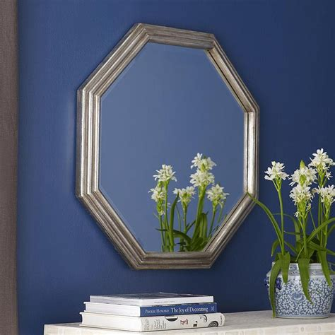 octagon mirrors decorative silver octagon mirror
