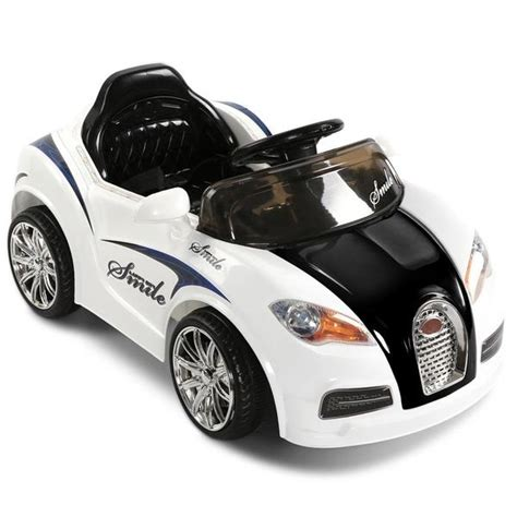 Price and other details may vary based on size and color. Bugatti Style Electric Ride on Car - Black & White - Swing ...