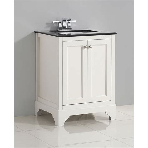 wyndenhall carlyle 24 inch white bath vanity with black