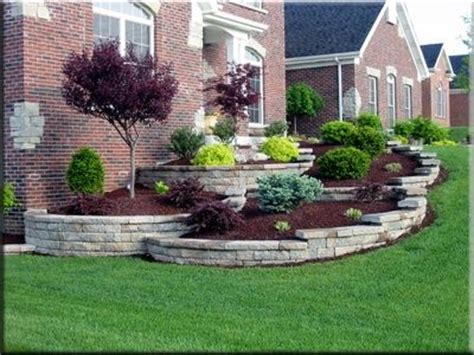 tiered front yard landscaping love these tiered flowerbeds landscaping ideas pinterest