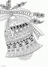 Coloring Pages Christmas Zentangle Bell Printable Adults Adult Print Jingle Bells Ny19 Votes Children sketch template