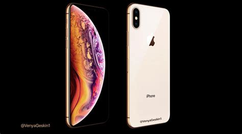 apple iphone xs new leaked shows gold colour