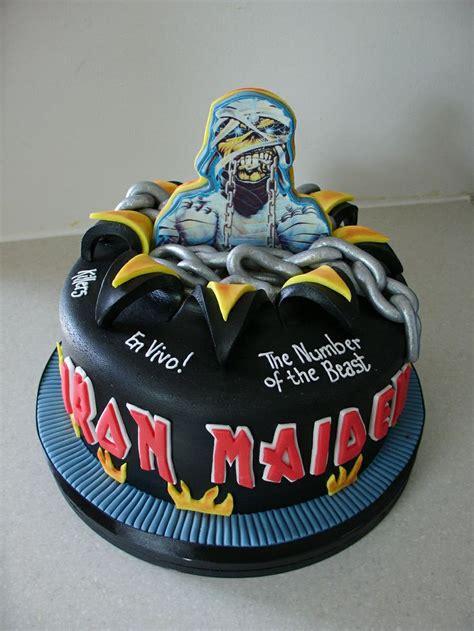 iron maiden cake xmcx birthday cakes  millzies cakes