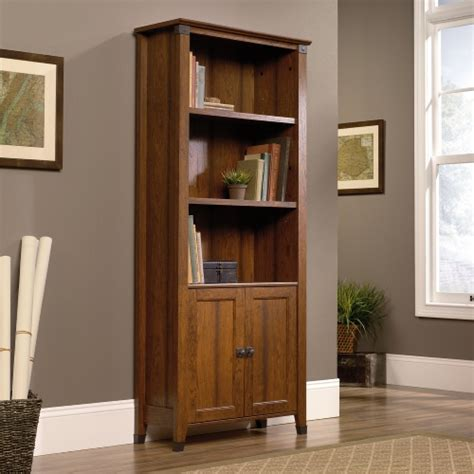 cherry bookcase with doors sauder carson forge library bookcase with doors cherry