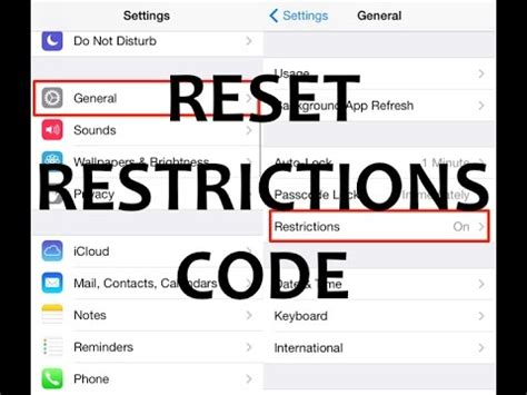 iphone restriction code how to reset unlock remove iphone restrictions code no