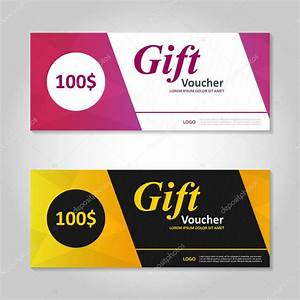 Premium elegance pink and gold gift voucher template ...