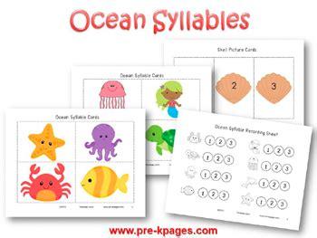 theme activities in preschool 274   ocean syllable identification activity