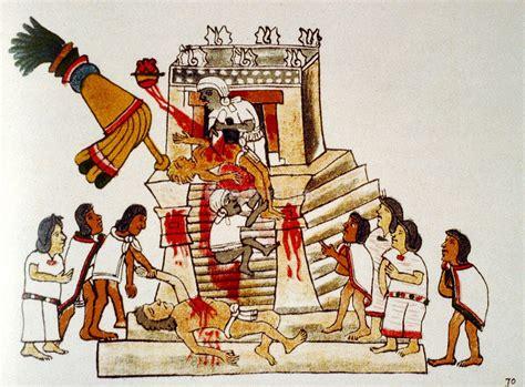 Aztec Priest Performing Human Sacrifice