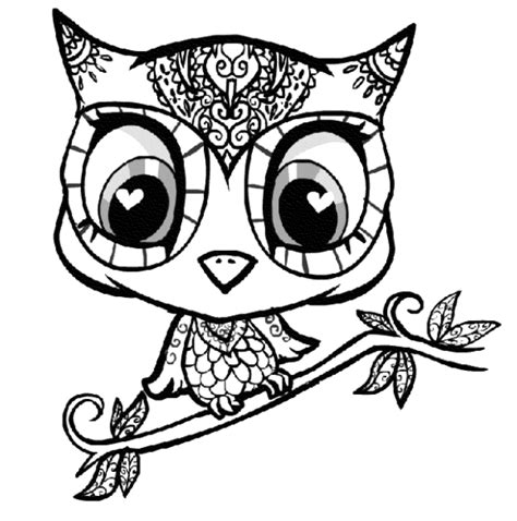 print  owl coloring pages   kids