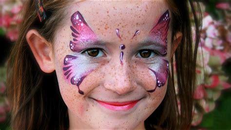 kinder schminken anleitung rosa schmetterling schminken schmetterling kinderschminken vorlage anleitung