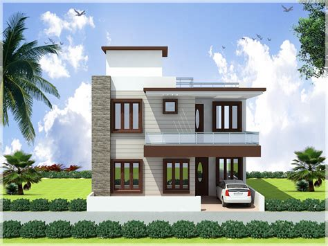 Front Elevation Of Duplex House