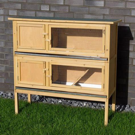 gabbie usate per conigli conigliera in legno con 2 gabbie per conigli nani o cavie