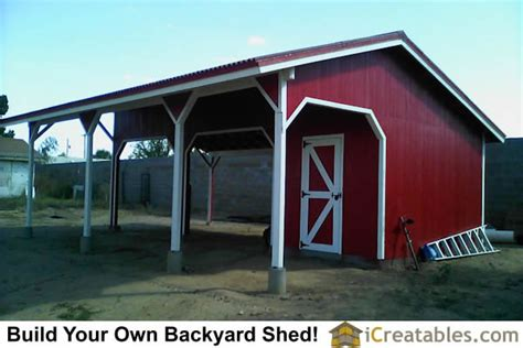 loafing shed plans free barn and run in shed photos icreatables