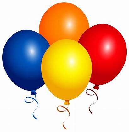 Balloons Clipart Birthday Four Transparent Happy Balloon