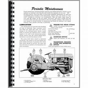 Massey Ferguson 35 Tractor Operators Manual  Diesel Only