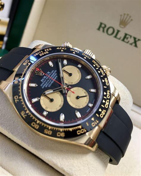 Rolex Daytona Yellow Gold Black Champagne Dial Oysterflex ...