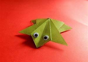 Geldfrosch Basteln Anleitung : frosch basteln bild anleitung f r einen origami frosch ~ Lizthompson.info Haus und Dekorationen