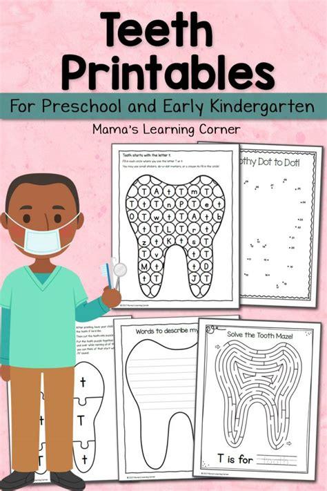 teeth printables for preschool and kindergarten mamas 493 | Tooth Printables 650x975