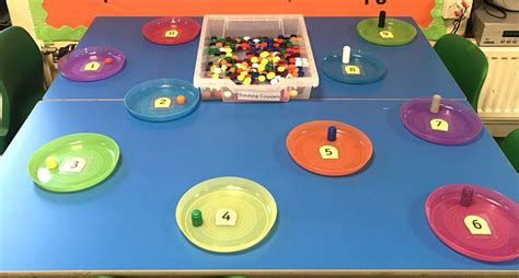 Number recognition and counting activity, using stacking ...