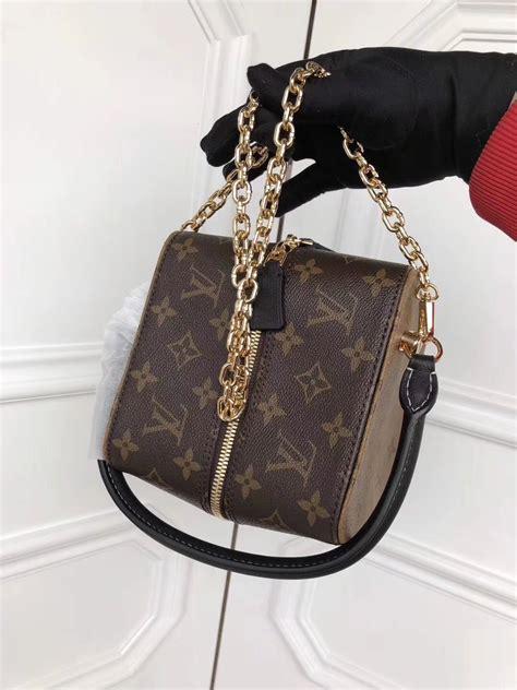louis vuitton lv square bag monogram original leather