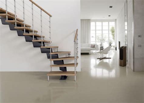 escalier quart tournant limon central marches en bois garde corps en acier d 233 couvrez les