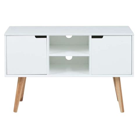 tv kastje scandinavisch tv dressoir lagoa wit 62 5x96x38 cm