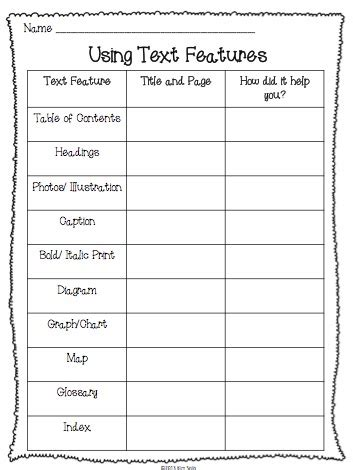 all worksheets 187 features of text worksheets printable non fiction text features study plus a few freebies elementary antics