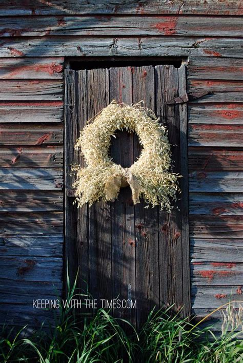 fall wreaths   door