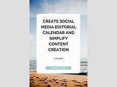 Create Social Media Editorial Calendar and Simplify