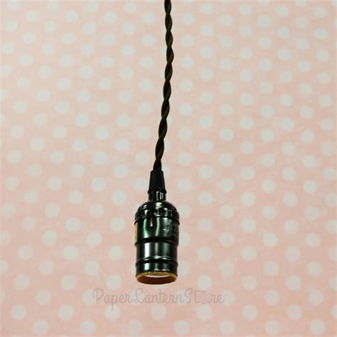 single pearl black socket pendant light l cord kit w