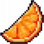 Orange Citrus Pixelated Pixelart Clipart Items Buffalo