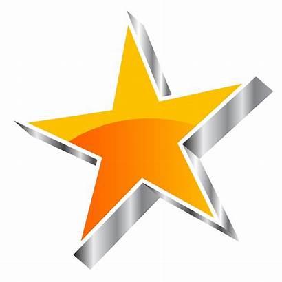 Star Vector Silver Clipart Clip Orange Stars