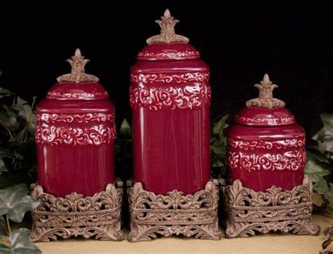 canisters sets for the kitchen tuscan design medium berry kitchen