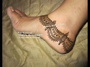 """YouTube anklet feet mehndi. Search """"Nidhi's MehndiART ..."""
