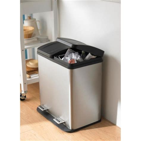 Ideas To Organize Kitchen Cabinets - ksp duplex double step garbage can 40 l stainless steel kitchen stuff plus home remedies