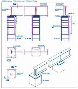 Steel beam to RC column connection   detallesconstructivos ...