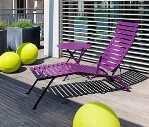 Chaise Longue Balcon : chaise longue bistro fermob pliante design en m tal et en couleurs ~ Teatrodelosmanantiales.com Idées de Décoration