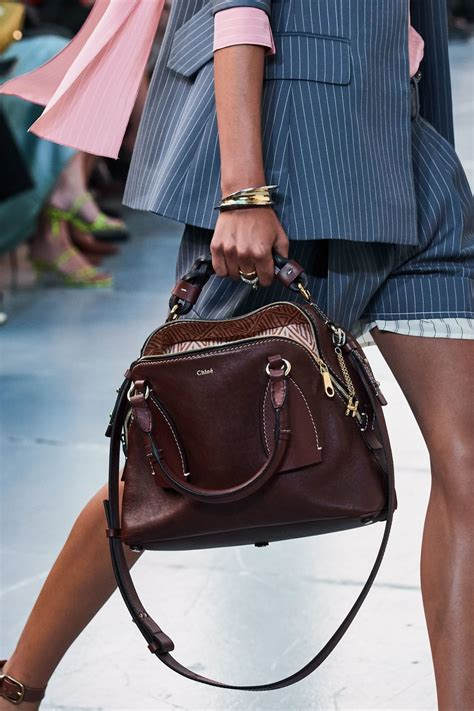 chloe spring summer  runway bag collection featuring  daria spotted fashion
