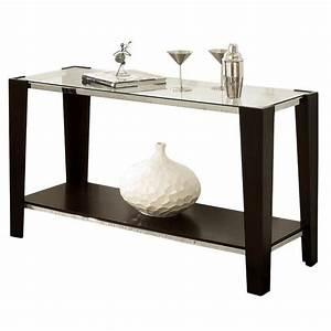 Steve Silver Company Newman Glass Top Sofa Table NW100SX