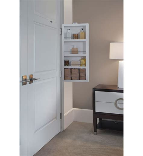 portable storage closet mounted in cabinet door organizers